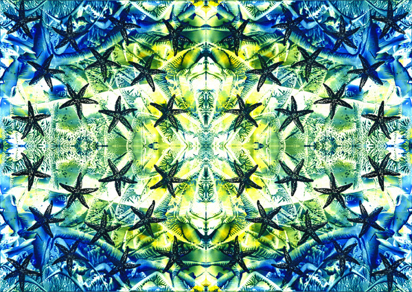 Blue-green abstract pattern