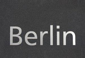 Berlin in metallic letters