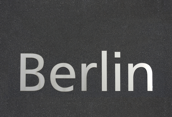Berlin in metallic letters: Berlin in metallic letters