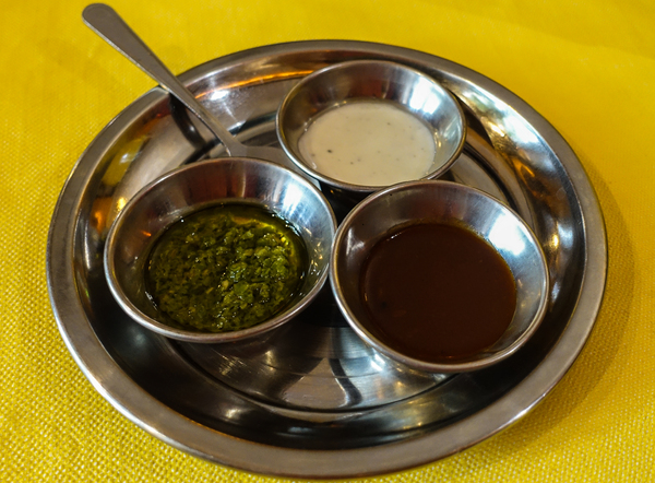 three indian sauces