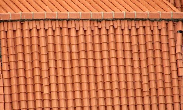rounded roof tiles1: roofing angles, textures and patterns