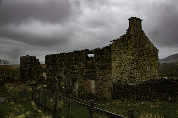 Abandoned Farmhouse: An abandoned farmhouse in the Trough of Bowland, Yorkshire side.  We have some very stormy weather in this location but stunning good days too.