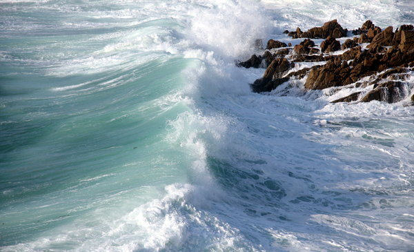 Tidal power 3: Tidal power in atlantic ocean. A Coruña, Galicia. Spain. EU