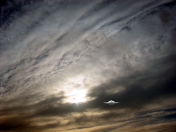 UFO Files 1: UFO Files placed in the sky of A Coruña city