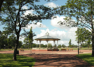 Bandstand in the Park: A glorious summers day in a local park.