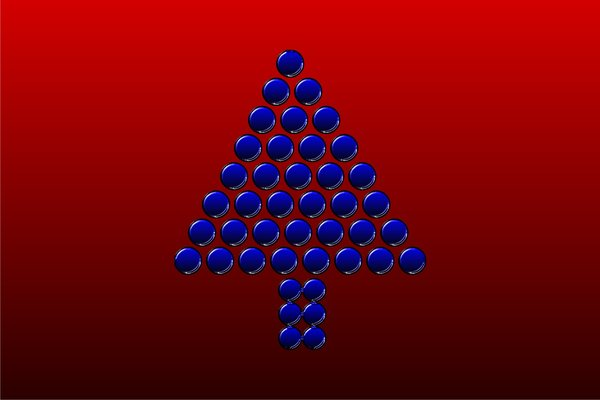 Abstract christmastree