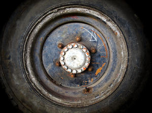 a perfect circle: an old tire