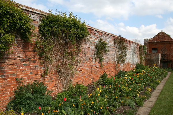 Walled garden: An old walled garden in the grounds of a stately house in England.