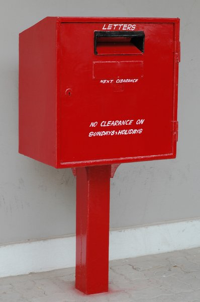 Red Post Box 2: a mailbox