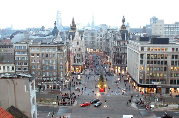Antwerp(en) above all.: The centre of the city Antwerp(en) in Belgium seen from above it at Xmas 2004 ... Contact/credit me for a high res. photo.