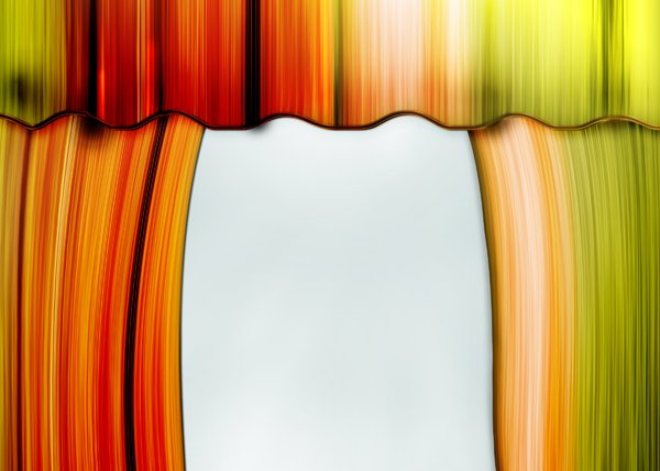 Orange curtains: stage curtains illustration