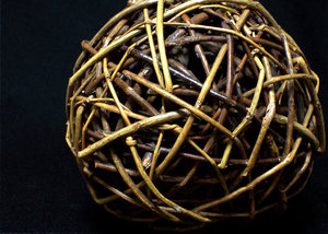 Ball: Decorative wooden ball.
