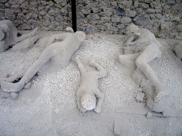 Pompeii bodies: Some of the unfortunates who became victim of the 79AD eruption of the Vesuvius volcano.