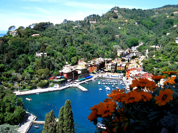 Portofino harbor: View on the harbor of Portofino, Italy.