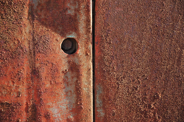 Rusty Texture: Closeup of rusty metallic texture