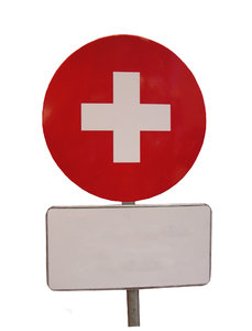 Red cross sign