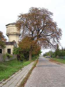 Water tower in Modlin