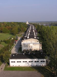 A long long long building: A military building near Modlin stronghold.One of the longest in Europe.