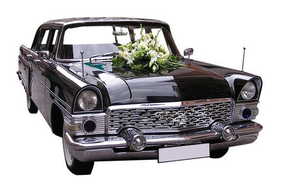 Wedding car: A car good for weddings. Russian classics. Chaika.Please comment this shot or mail me if you found it useful. Just to let me know!I would be extremely happy to see the final work even if you think it is nothing special! For me it is (and for my portfolio)