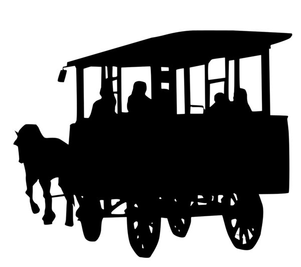 Carriage: Just a silhouette of old horse tram.Please comment this shot or mail me if you found it useful. Just to let me know!I would be extremely happy to see the final work even if you think it is nothing special! For me it is (and for my portfolio).