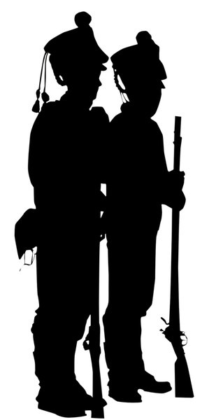 Two soldiers: Two historic soldiers with their rifles.Please comment this shot or mail me if you found it useful. Just to let me know!I would be extremely happy to see the final work even if you think it is nothing special! For me it is (and for my portfolio)