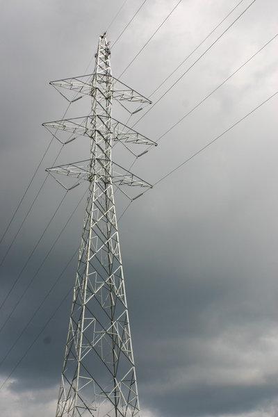 Hydro Tower in Stormy Sky