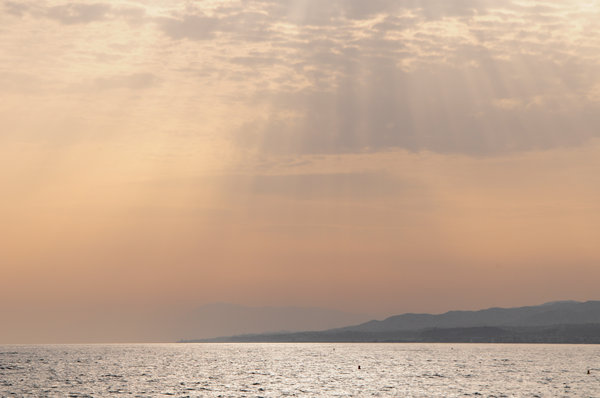 Sunset on the sea: Sunset on the Mediterranean sea, Torrox, Malaga (Spain)