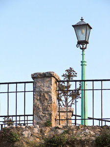 Streetlamp: Streetlamp in the old part of Mostar, Bosnia and Herzegovina