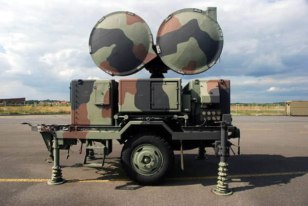 Military radar: Radar is an object detection system that uses electromagnetic waves to identify the range, altitude, direction, or speed of both moving and fixed objects such as aircraft, ships, motor vehicles, weather formations, and terrain. The term RADAR was coined i
