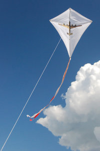 Kite 1: Kite with british bomber shape in the sky