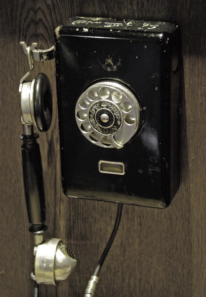 Old phone: Old hanging telephone