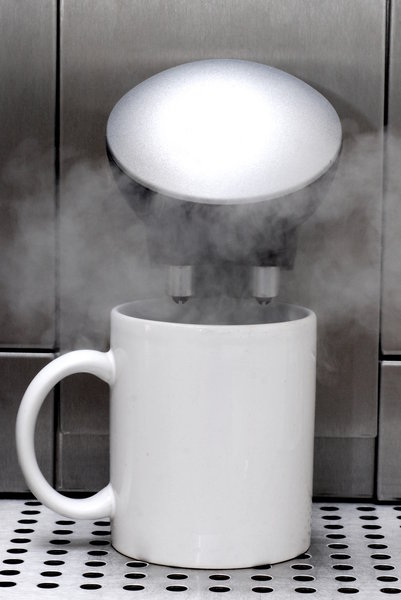 Steam and the coffee pot: Pot and coffee machine