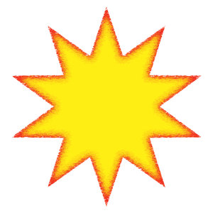 A star 2: Coloured star shape