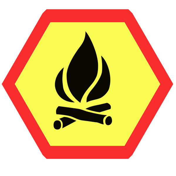 Hexagonal warning sign 2