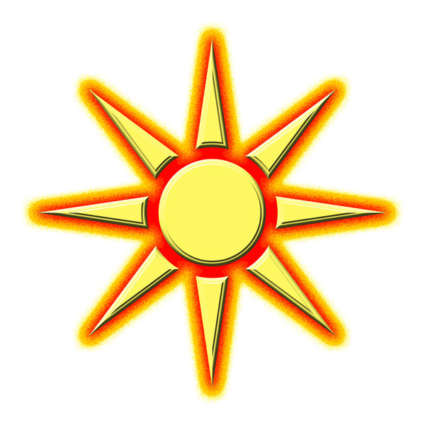Sun pictogram 2