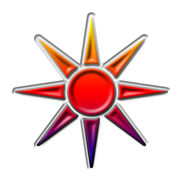Sun pictogram 4