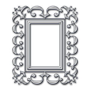 Baroque frame 3: Stylised picture frame