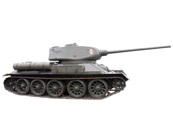 War machine: Soviet tank T 34 form II worl war times, with polish army sign