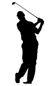 Golf player 5: Silhouette of golfer