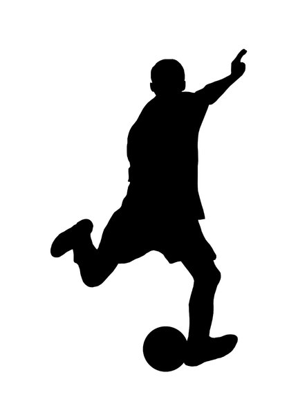Football 5: Silhouette of soccer player