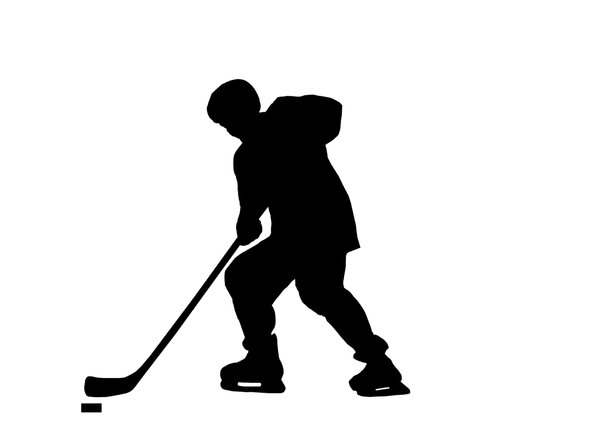 Hockey 4: Silhouette of player