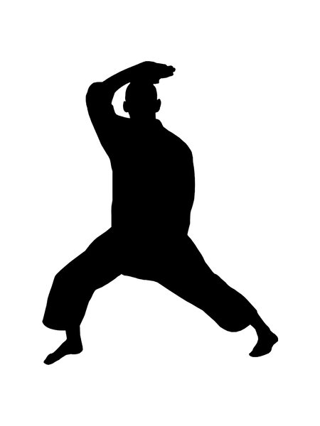 Karate 4: Silhouette of fighter