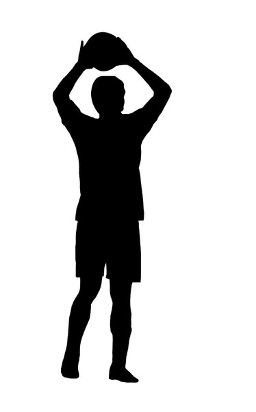 Football 1: Silhouette of soccer player