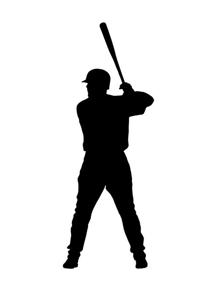 Batter from baseball team 4: Silhouette of baseball player