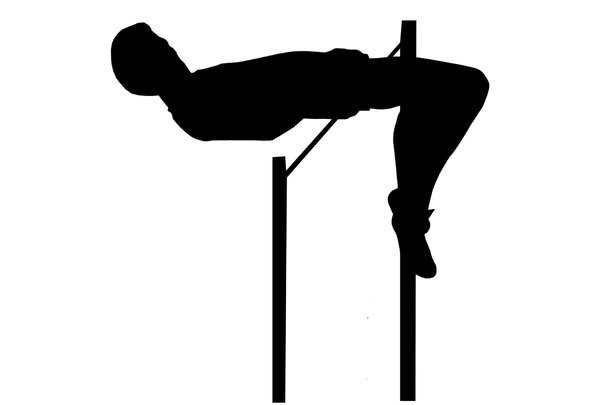 High jump 3: Sportsman silhouette
