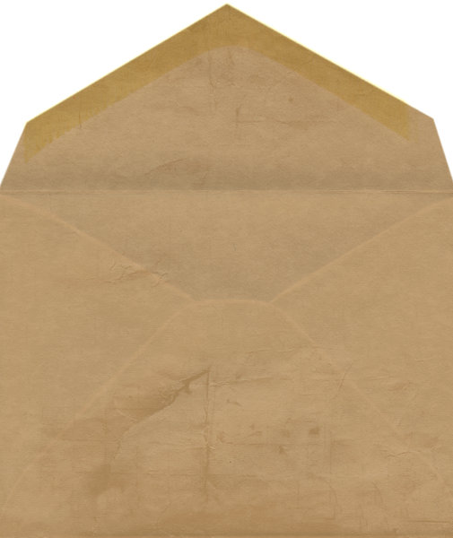 Old envelope 1: Hand made envelope
