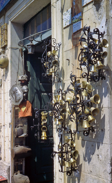 Shop with bells in Taormina