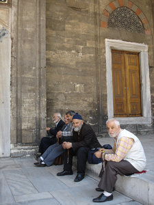 Old men: Old men sitting outside a mosque in Istanbul