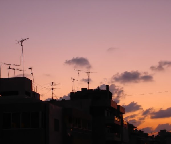 Satellite city 2: Beirut rooftops at dusk