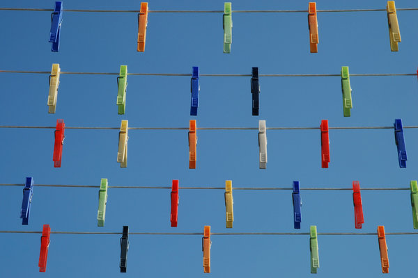 Clothes Pins 2: Clothes Pins on Wires.